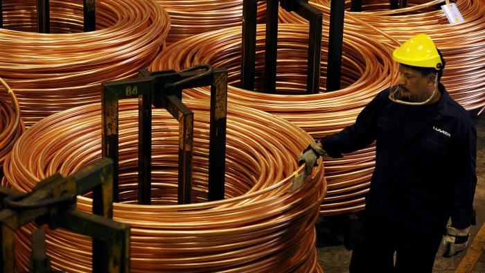 copper coils being produced